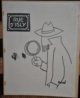 Très Rare Dessin Original Signé Carral à L'encre De Chine Dessin De Presse 1962 Guerre D'Algérie Fusillade Rue D'Isly - Original Drawings