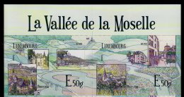 2013 Luxembourg - Mosel Valey / Das Moseltal - Wineyards - 2 V S.adhesve With Top Sheetlet Tab - MNH** Mi 1981/2 (oa) - Wein & Alkohol