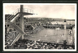 Cartolina Trieste, Bagno Ausonia - Trieste