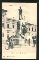 Cartolina Udine, Monumento A G. Garibaldi - Udine