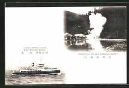 "CPA Beppu, Umijigoku Or Sea Inferno, Osaka-Beppu Liner M.S. ""Midori Maru"" - Osaka"