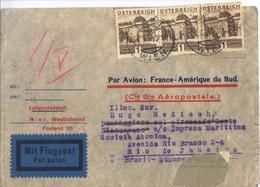 C2751-Austria-Aéropostale Cover From Wien To Rio, Brazil-1933 - Luftpost