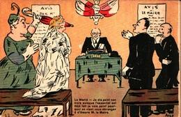 Illustrateur Ancy, Mariage Mairie - Künstlerkarten