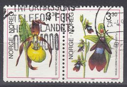 NORGE - 1992 - Due Valori Usati Uniti Fra Loro: Yvert 1046a (paio Orizzontale Di 1045 E 1046), Come Da Immagine. - Norwegen