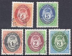 NORGE - 1992 - Serie Completa Di 5 Valori Usati: Yvert 1064/1068, Come Da Immagine. - Norwegen