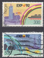 NORGE - 1992 - Serie Completa Di 2 Valori Usati: Yvert 1051/1052, Come Da Immagine. - Norwegen