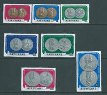Aitutaki 1973 QEII Silver Wedding Coinage Set 7 MNH - Aitutaki