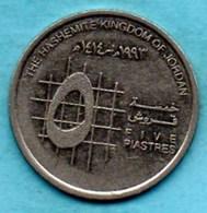 T10(r65)  JORDAN / JORDANIE  5 Piastres   1993 / 1414  KM#54 - Jordanie