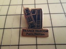 Sp02 Pin's Pins : Rare Et Belle Qualité  FRANCE TELECOM / COMBINE TELEPHONIQUE PARIS NATION - France Telecom