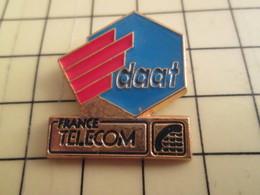 Sp01 Pin's Pins : Rare Et Belle Qualité  FRANCE TELECOM / DAAT HEXAGONE CARTE DE FRANCE - France Telecom