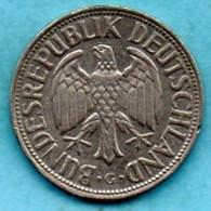 (r65)  GERMANY Fédéral Rép  1 MARK 1954 G - [ 7] 1949-… : FRG - Fed. Rep. Germany