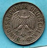 (r65)  GERMANY Fédéral Rép  1 MARK 1958 J - [ 7] 1949-… : FRG - Fed. Rep. Germany