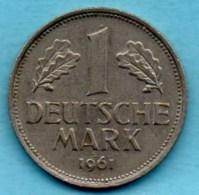 (r65)  GERMANY Fédéral Rép  1 MARK 1961 D - [ 7] 1949-… : FRG - Fed. Rep. Germany