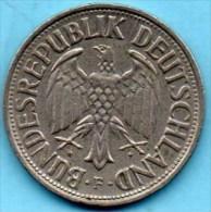 (r65)  GERMANY Fédéral Rép  1 MARK 1962 F - [ 7] 1949-… : FRG - Fed. Rep. Germany