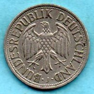 (r65)  GERMANY Fédéral Rép  1 MARK 1962 J - [ 7] 1949-… : FRG - Fed. Rep. Germany