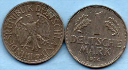 (r65)  GERMANY Fédéral Rép  1 MARK 1974 D - [ 7] 1949-… : FRG - Fed. Rep. Germany
