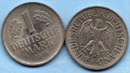 (r65)  GERMANY Fédéral Rép  1 MARK 1978 F - [ 7] 1949-… : FRG - Fed. Rep. Germany
