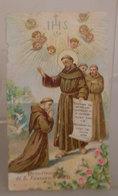 BENEDIZIONE SAN FRANCESCO D'ASSISI - PREGHIERA DI PIO IX SANTINO  FORMATO PICCOLO - Images Religieuses