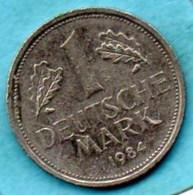 (r65)  GERMANY Fédéral Rép  1 MARK 1984 G - [ 7] 1949-… : FRG - Fed. Rep. Germany