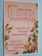 """ FILACEPT "" Den Haag ( Postzegeltentoonstelling ) Anno 1988 ( Zie Foto ) - Collector Fairs & Bourses"