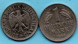(r65)  GERMANY Fédéral Rép  1 MARK 1992 D - [ 7] 1949-… : FRG - Fed. Rep. Germany