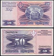 Bosnia & Herzegovina - 50 Dinara Banknote 1995 UNC Pick 47 (14423 - Bosnien-Herzegowina