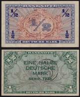 BDL B-Stempel Für Berlin 1/2  Mark 1948 Ros. 231a Gutes VF  (15091 - 1949-…: BRD