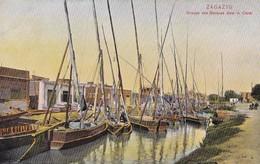 ZAGAZIG - Groupe De Barques Dans Le Canal - Zagazig