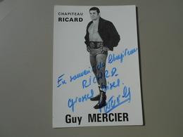 SPORTS CATCHEUR GUY MERCIER CHAPITEAU RICARD  CARTE 10,5 X 15 CM - Autres