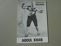SPORTS CATCHEUR ABDUL KHAN  CHAPITEAU RICARD  CARTE 10,5 X 15 CM - Autres