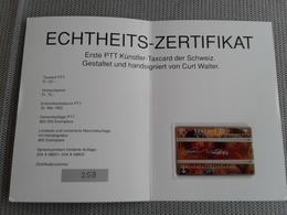Switzerland - Hand Signed Mint Phonecard In Folder - Switzerland