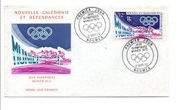 NOUVELLE CALEDONIE FDC 1972 (PA133) JEUX OLYMPIQUES DE MUNICH - FDC