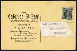 """CP Publicitaire Avec  PREO Roulette """" ANTWERPEN 1925 ANVERS """" - La CP Représente L'écrivain Honoré De BALZAC. - Precancels"""