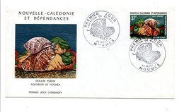 NOUVELLE CALEDONIE FDC 1974 (PA152) COQUILLAGE - FDC