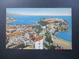 AK Principaute De Monaco Vue Generale. Munier Editeur D'Art 19, Rue Marceau Nice - Hafen