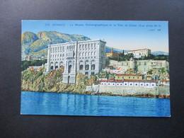 AK Monaco Le Musee Oceanographique Et La Tete De Chien. Munier Editeur D'Art 19, Rue Marceau Nice - Hafen