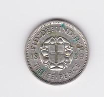 3 Pence Grande Bretagne 1939  TTB+ - 1902-1971 : Post-Victorian Coins