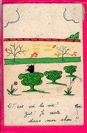 Cpa Carte Postale Ancienne  - Illustrateur Rene Chat - Other Illustrators