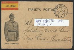 Guerra Di Spagna / War Of Spain: Annullo / Cancellation UFF. POSTALE SPECIALE 4 Su Franchigia - Free Postage - 1900-44 Victor Emmanuel III