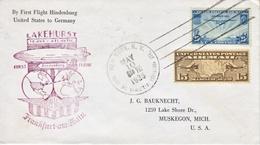 U.S. First Flight  HINDENBURG  U.S.  TO  GERMANY - Air Mail