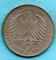 (r65) GERMANY Fédéral Rép  2 MARK 1957 F  Max PLANCK  Km#116 - [ 7] 1949-… : FRG - Fed. Rep. Germany