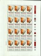 "Luxembourg Feuille De 16 Timbres ""A""  Timbre De Salutation  2009 - Full Sheets"