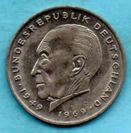 (r65)  GERMANY Fédéral Rép  2 MARK 1975 F  Konrad ADENAUER Km#124 - [ 7] 1949-… : FRG - Fed. Rep. Germany