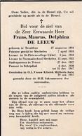 Priester, Abbé, Frans De Leeuw, Teralfene, Mechelen, Ukkel, Ternat,Schepdaal, Mijlbeek-Aalst,1957 - Religion & Esotericism