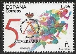 2018-ED. 5233 COMPLETA - 50 Aniversario De La Academia Olímpica Española-NUEVO - 2011-... Ungebraucht