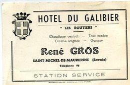 SAINT MICHEL DE MAURIENNE(HOTEL) CARTE DE VISITE - Visiting Cards