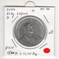 Suisse. 5 FS 1967 B. Pièce En Argent à 835/1000. 15,20 Gr = 12,525 Gr Ag Pur. Diam 31,45 Mm. SUPERBE - Switzerland