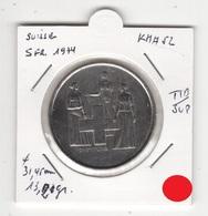 Suisse. 5 FS 1974. Pièce En Cu/Ni 13,20 Gr. Diam 31,45 Mm. TTB/SUP - Zwitserland