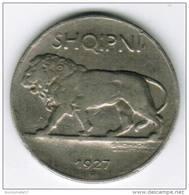 ALBANIE - 1/4 LEKU 1927 - Lion - Albania