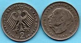 (r65)  GERMANY Fédéral Rép  2 MARK 1977 F  Theodor HEUSS Km#127 - [ 7] 1949-… : FRG - Fed. Rep. Germany